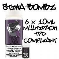 Black Jack By Stika Bombz 6x10ml (Tpd Compliant)