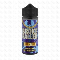 Bangin Blueberry By Broke Baller 80ml Shortfill