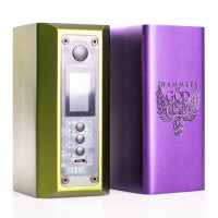 Hammer Of God DNA400 Regulated Vape Mod by Vaperz Cloud in Grape and OD Green