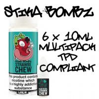 Strawbe Chew By Stika Bombz 6x10ml (Tpd Compliant)